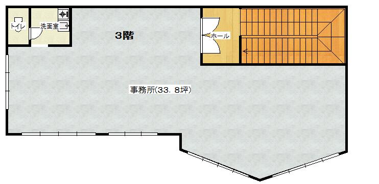 南側貸事務所(間取)